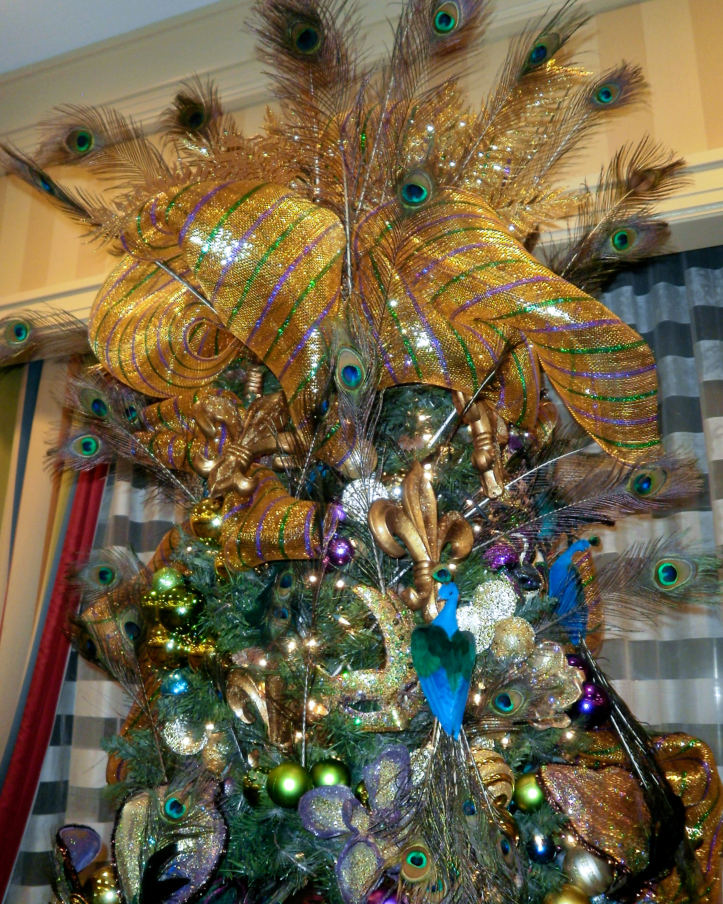 Mardi Gras Christmas Tree Ornaments